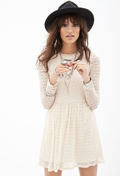 Fit & Flare Lace Dress #F21StatementPiece