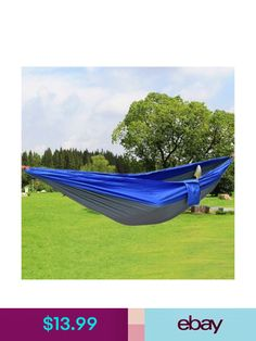 Sleeping Bags Portable High Strength Parachute Fabric Hammock Hanging Bed With Mosquito Net For Outdoor Camping Travel Blue To Help Digest Greasy Food Camping & Hiking
