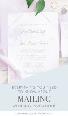 Here's my step by step guide to mailing wedding invitations, postage tips included!