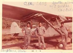 Dad had worked for Air America Inc. as an Aircraft mechanical engineer. On this photo: spotter plane with 8 smoke rockets — in Vientiane, Laos.