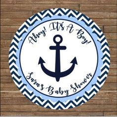 Bridal Showers, Baby Showers, Goody Bags, Nautical Baby, Personalized Stickers, Favor Tags, Shower Ideas, Favors, Birthdays