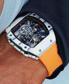 Rafael Nadal sported his new RM timepiece by Swiss luxury maker Richard Mille at Queen's Club in London. Richard Mille, Swiss Luxury Watches, Luxury Watches For Men, Rafael Nadal, Men's Accessories, Pink Watch, Watch 2, Luxury Watch Brands, Estilo Fashion
