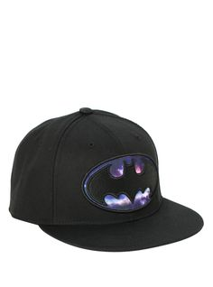DC Comics Batman Galaxy Logo Snapback Hat  0469dae48888