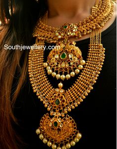 Antique Necklace latest jewelry designs - Page 32 of 332 - Indian Jewellery Designs Indian Jewellery Design, Indian Jewelry, Jewelry Design, Fancy Jewellery, Jewellery Stand, Pakistani Jewelry, Indian Necklace, Designer Jewellery, Latest Jewellery