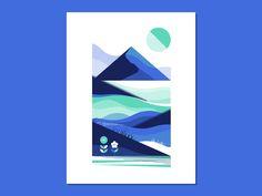 Blue Mountain Landscape Study