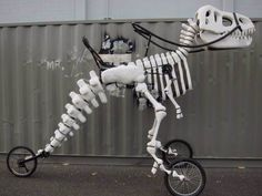 A Huge Functional Bicycle That Is Shaped Like A T-Rex Skeleton - DesignTAXI.com
