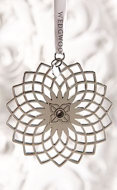 Wedgwood Pierced Star 2015 Silver Ornament