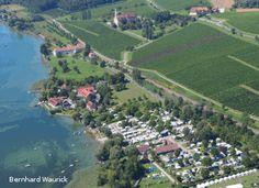 BIRNAU-MAURACH (D), Camping Birnau-Maurach, 32,-euro, toerplaatsen: 80 (70 - 100m2), Zeer grote en ruime camping direct aan de Bodensee, grote plaatsen met enige schaduw.
