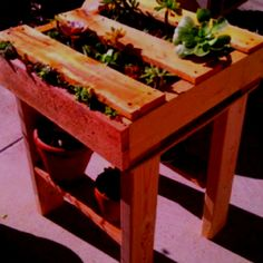 Mini Pallet Garden Table