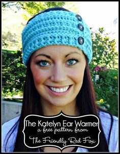 Beautiful free crochet ear warmer pattern. I love the post stitches on this one! A cute crochet headband you will want to make over and over!