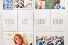 Using Alphabets in your Life Pages Albums | via Gossamer Blue