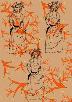Madame Sans Culotte- Cotton Print to waken the Feminine Revolution 2015