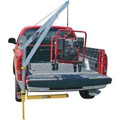 Spitzlift Anodized Aluminum Hitch-Mount Truck Crane With Hand Winch — 700-Lb. Capacity, Model# LKTRS-700
