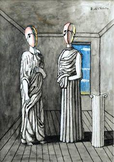 Giorgio de Chirico - Les Deux Muses, 1965 #arte