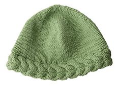 Free Cable knit hat pattern.  I may need this for winter.