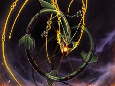 shiny mega rayquaza   10 Pieces of Fan Art To Remind You Not To Mess With Mega Rayquaza