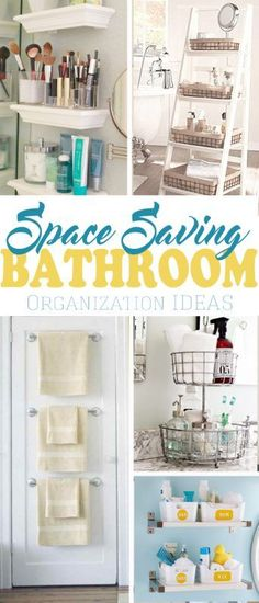Do you want less clutter and more storage in the bathroom? Over 20 space saving small bathroom organization ideas.