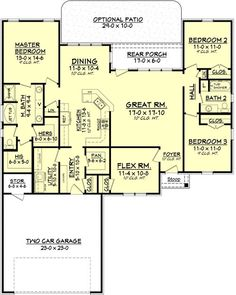 COOL house plans offers a unique variety of professionally designed home plans with floor plans by accredited home designers. Styles include country house plans, colonial, Victorian, European, and ranch. Blueprints for small to luxury home styles. New House Plans, Dream House Plans, Small House Plans, House Floor Plans, Acadian Style Homes, European Plan, European House, French Country House Plans, Country French