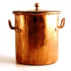 xx-SOLD! Copper stockpot, French, 19th century (III.82)