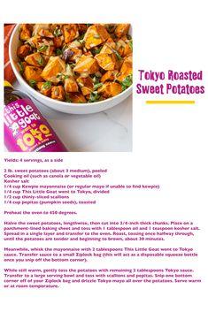 Kewpie Mayonnaise, Goat Recipes, Sweet Cooking, Roasted Sweet Potatoes, Cooking Oil, Goats, Vegetarian, Fruit, Ethnic Recipes