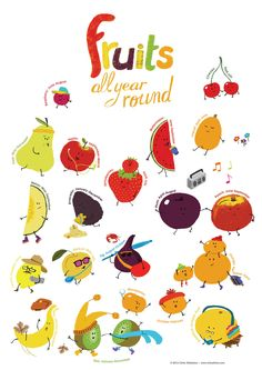 Fruits all year round #poster #illustration