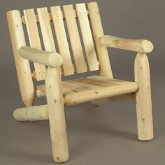 Rustic Low Back Log Armchair | Free Shipping