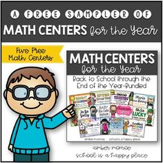 A Free Sampler of Math Centers for the Year {Back to School through the End of the Year-Bundled} is a risk free way to check out some of the centers included in my monthly center sets. There are five centers included in this freebie. I hope your students enjoy them as much as mine have.