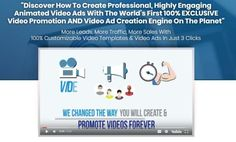 """Vidoyo Video Builder Software Review - Videos Exclusive Recorded by A Professional San Diego Based Video Company to """"Discover How to Create Professional, Highly Engaging Animated Video Ads with The World's First 100% Exclusive Video Promotion and Video Ad Creation Engine On the Planet"""" More Leads, More Traffic, More Sales with 100% Customizable Video Templates & Video Ads in Just 3 Clicks"""