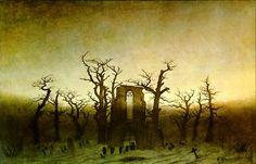 Abbey in the Oakwood by Caspar David Friedrich