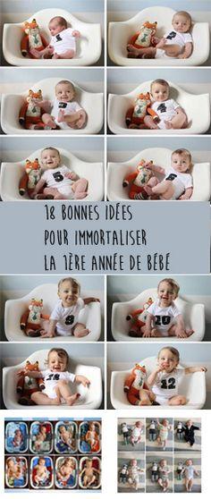 Parce que bébé grandi tellement vite, voici 18 bonnes idées pour immortaliser…