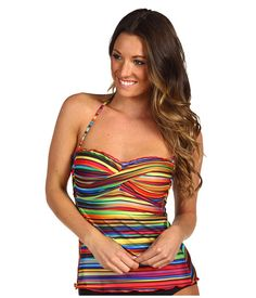 BECCA by Rebecca Virtue South of the Border Tankini Top Multi - Zappos.com Free Shipping BOTH Ways