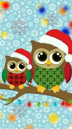 Free Christmas Owls Wallpaper For Your Phone Christmas Rock, Christmas Owls, Christmas Crafts, Winter Christmas, Holiday Wallpaper, Winter Wallpaper, Christmas Graphics, Christmas Clipart, Cool And Funny Wallpapers