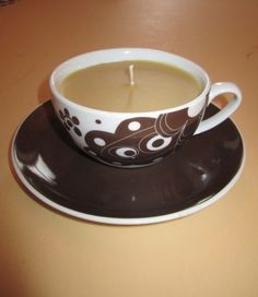 Coffee scented candle in coffee cup - brilliant