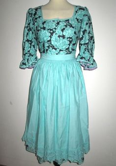 * * * SALZBURGER DIRNDL türkis, Gr.38 * * * Dresses With Sleeves, Long Sleeve, Tops, Ebay, Fashion, Clothing Accessories, Clothing, Shopping, Fashion Women