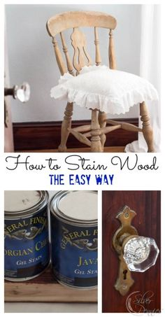 How to Stain Wood The Easy Way! We wanted to stain our woodwork in the guest room but dreaded the idea of stripping everything. Here's how we did it with @generalfinishes ! #sponsored