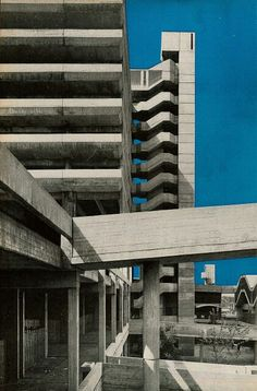Trinity Square, Gateshead - Rodney Gordon/Owen Luder Partnership - Now demolished. Brutalist Buildings, Modern Buildings, Brutalist Design, Beautiful Architecture, Interior Architecture, Fascist Architecture, Architecture Concept Drawings, Concrete Building, Environment Concept Art