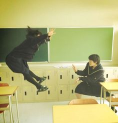 Japanese Schoolgirls Perform Superhuman Energy