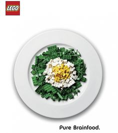 Pure Brainfood Advertising campaign for LEGO Bricks by german advertising agency ServicePlan. Ads Creative, Creative Advertising, Print Advertising, Advertising Campaign, Print Ads, Marketing And Advertising, Guerrilla Advertising, Product Advertising, Lego Creative