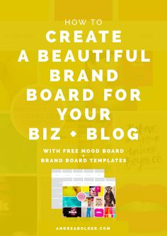 So, how do you make sure you show up with a consistent visual style? You create a brand board! Branding Your Business, Business Tips, Online Business, Business Coaching, Creative Business, Was Ist Pinterest, Pinterest Blog, Brand Board, Creating A Brand
