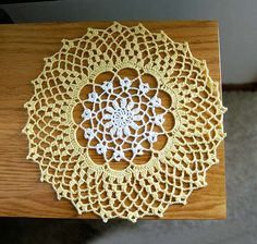 Cottage Chic Flower Crochet Lace Doily Home Decor by NutmegCottage, $11.00