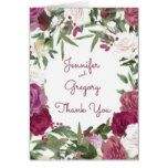 Watercolor Floral - Wedding Thank You Card
