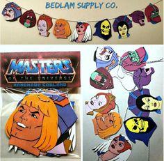 He-Man Inspired Masters of the Universe Cartoon Garland Banner Imprimibles Star Wars Gratis, Master Of The Universe, Masters, Man Party, Heart For Kids, Grad Parties, Man Birthday, Birthday Celebration, Stuff To Do