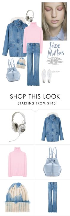 """Distressed Denim"" by junglover ❤ liked on Polyvore featuring Master & Dynamic, Army Fur by Yves Salomon, Jil Sander, Opening Ceremony, The Elder Statesman, M.i.h Jeans and Common Projects"