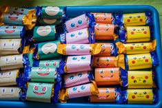 Pokemon party snacks, Chocolate wrapped in pokemon printables