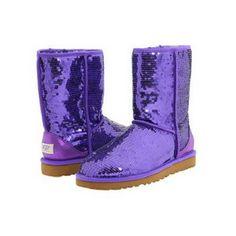 Womens' Purple Sequin UGG Australia Boots.
