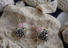 Unique vintage pieces and contemporary handmade items by dianasjoy Heart Jewelry, Heart Earrings, Silver Earrings, Dangle Earrings, Unique Jewelry, Handmade Items, Handmade Gifts, Unique Vintage, Antique Silver