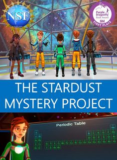 The Stardust Mystery Project has free science videos, short stories, books and lessons for late elementary and middle school students. The two books, The Stardust Mystery and Race to the Big Bang won awards in 2021 for best children's STEM books. The science is all about atoms, how they were created during the evolution of the Universe and shared by plants and animals on Earth. The project was funded in part by the National Science Foundation. Science Videos, Science Books, Science Education, Teaching Science, Stories For Kids, Short Stories, Star Jackson, Expanding Universe