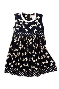 Paulinie Butterfly Print Dress (Toddler, Little Girls & Big Girls) by Non Specific on @HauteLook