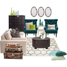 "Living Room Decorating Ideas on a Budget - ""My living room one day!"" by stephstan87 on Polyvore"