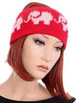 Red Marching Elephants Headband